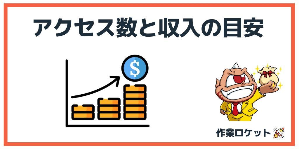 ブログアクセス数と収入の関係