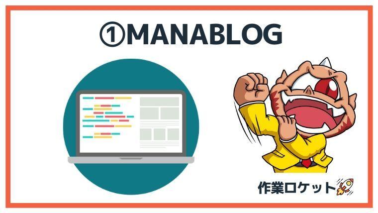 ブログヘッダーデザイン例①:manablog