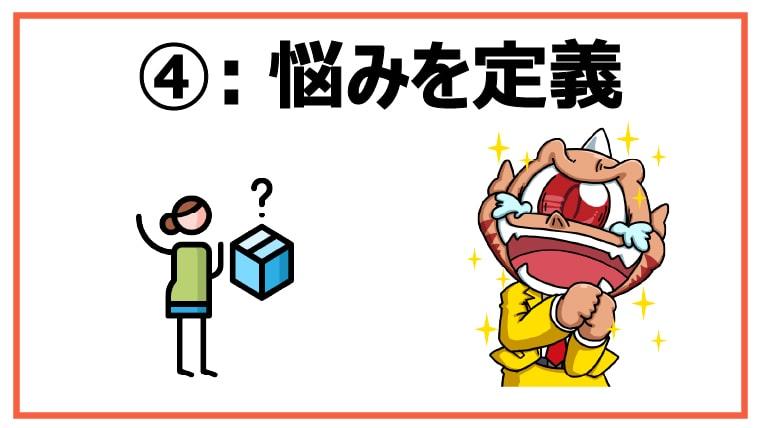 ④:悩みを定義