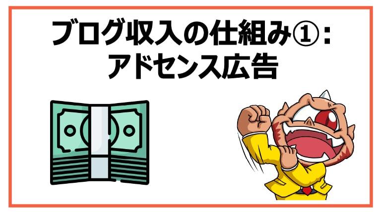 ブログ収入の仕組み①:アドセンス広告