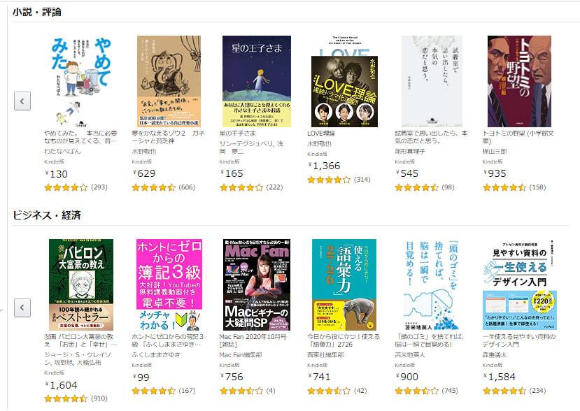 Amazonプライムのメリット5:1,000冊以上の電子書籍が読み放題!「プライムリーディング」