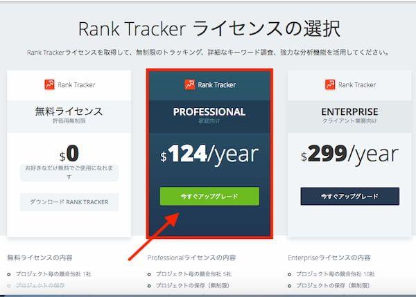 Rank Trackerは個人ブロガーならプロフェッショナル版一択